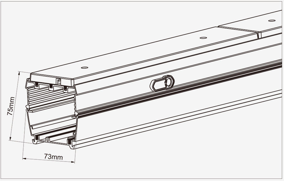140Lm/W Super High Efficiency Linear LED Low Bay Airport Suspended Lamp